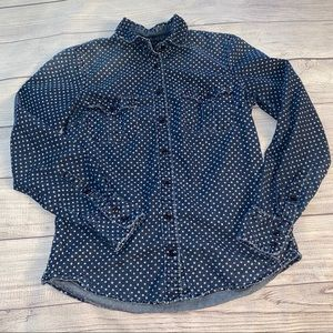 J. Crew || Button Up Chambray Star Shirt Size 2